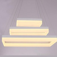 led亚克力长方形吊灯办公室现代简约led吊灯现代照明led