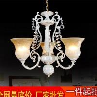 欧式水晶吊灯锌合金客厅餐厅吊灯 三头树脂灯工程灯具