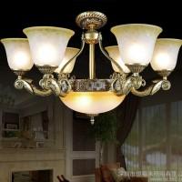 欧式吊灯美式复古客厅灯田园卧室内灯简约创意餐厅书房灯7001-6+3