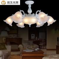工厂直销宜生光景YS6652六头欧式吊灯美式田园现代吸顶灯卧室客厅书房餐吊灯
