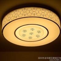现代简约led吸顶灯 圆形亚克力客厅吸顶灯时尚家居极美卧室灯