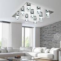 现代简约客厅灯创意LED吸顶灯不锈钢平板灯大气卧室灯饰餐厅吊灯