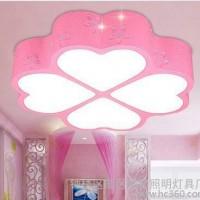 四叶草Led吸顶灯现代客厅书房灯爱心卧室灯温馨浪漫 房间灯具