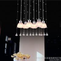水晶灯LED餐吊灯 花朵款吸顶灯现代简约餐厅吊灯Y853