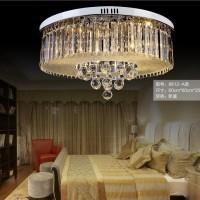 飞标照明/现代LED客厅圆形水晶吸顶灯具/大气卧室灯餐厅灯